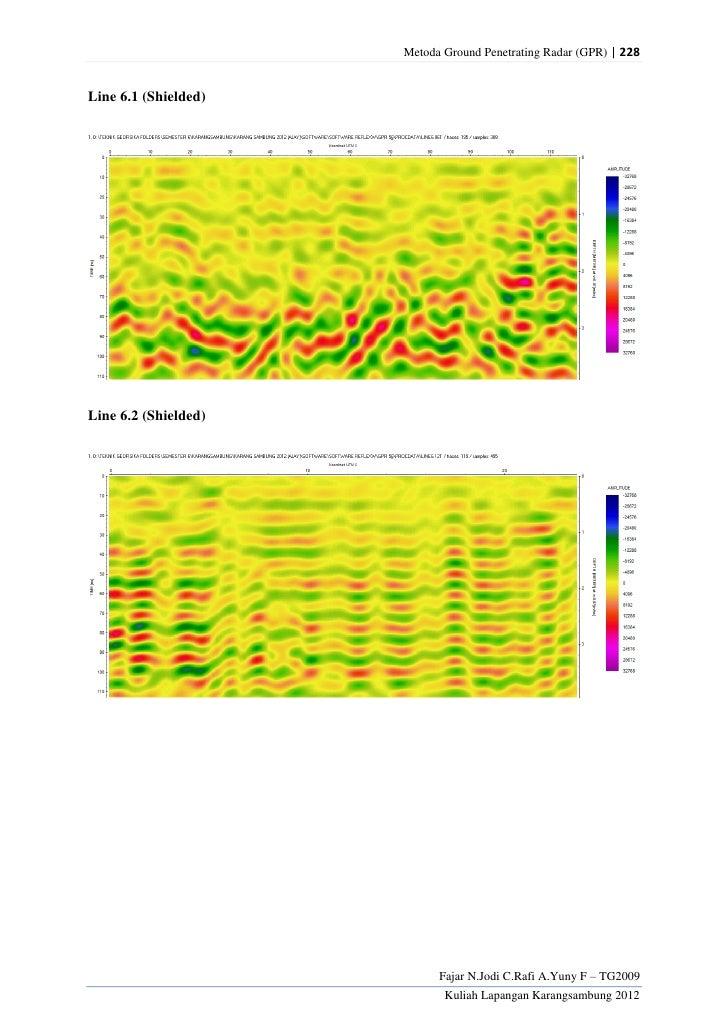 Metoda Ground Penetrating Radar (GPR) | 228Line 6.1 (Shielded)Line 6.2 (Shielded)                            Fajar N.Jodi ...