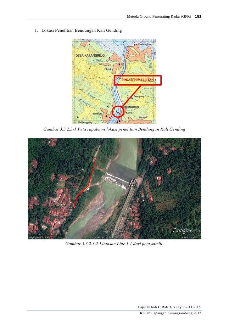 Metoda Ground Penetrating Radar (GPR) | 1831. Lokasi Penelitian Bendungan Kali Gending                                    ...