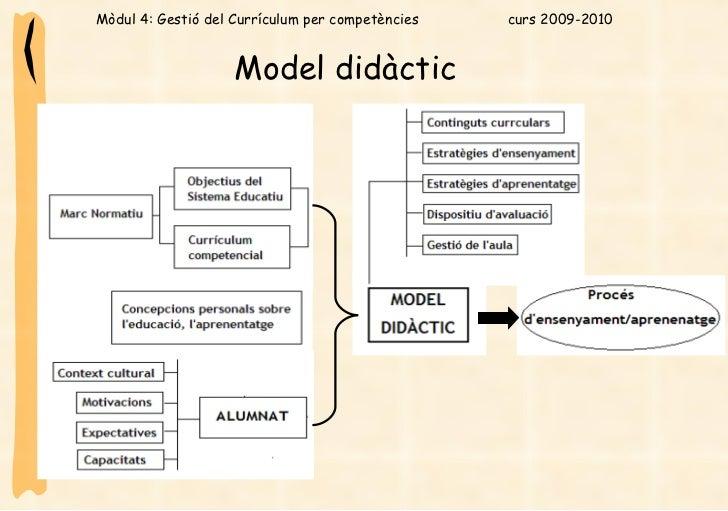 Model didàctic   Mòdul 4: Gestió del Currículum per competències  curs 2009-2010