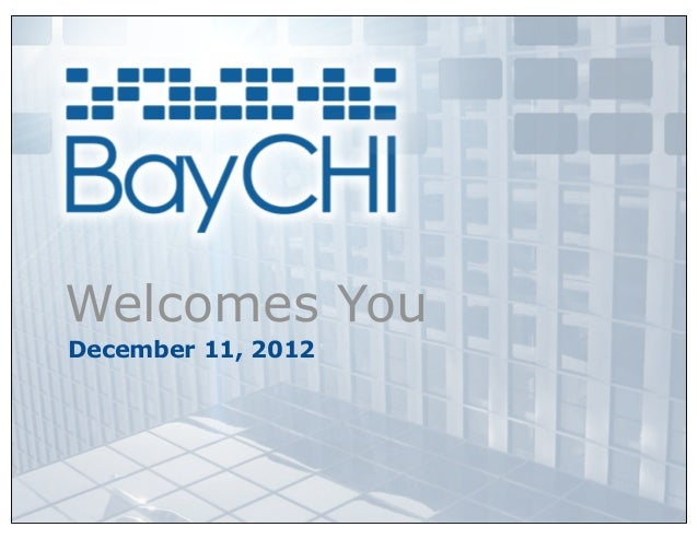 Welcomes YouDecember 11, 2012