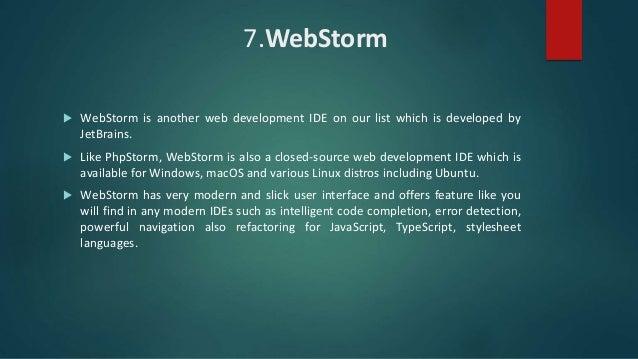 12 best ide's for web development