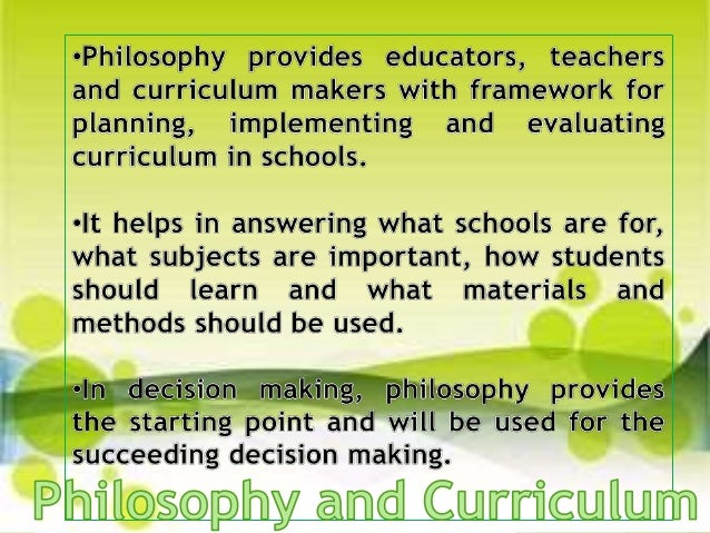 Importance of Curriculum Foundations
