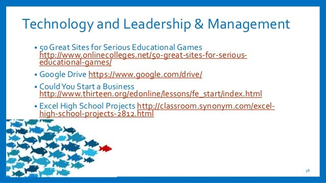 Technology and Leadership & Management • 50 Great Sites for Serious Educational Games http://www.onlinecolleges.net/50-gre...