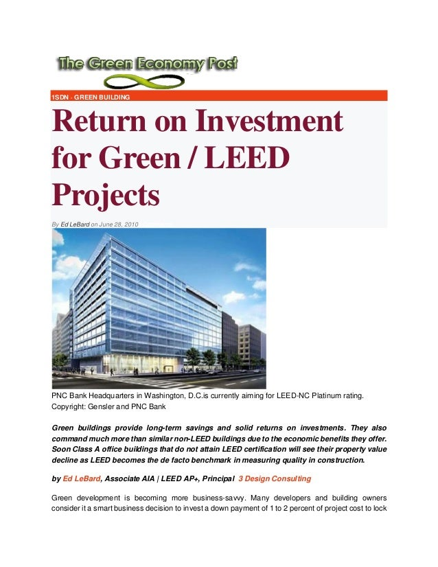 Return on Investment for Green - LEED Projects