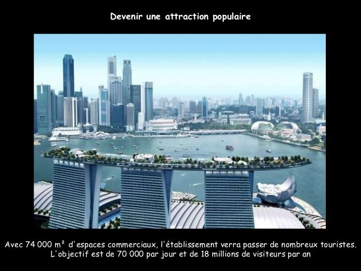 Avec 74 000 m² d'espaces commerciaux, l'établissement verra passer de nombreux touristes. L'objectif est de 70000 par jou...
