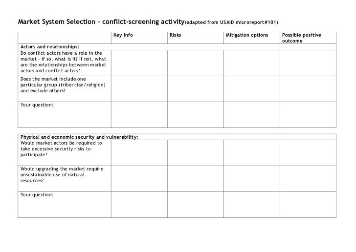 Step 1 Training Materials Conflict Screening Worksheet – Step 1 Worksheet