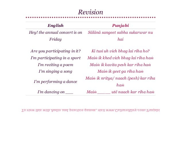 Basic Punjabi | Lesson 12 | Conversation at school & being with elders