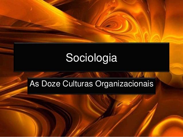Sociologia As Doze Culturas Organizacionais