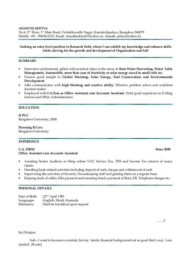 RESUME & covering letter