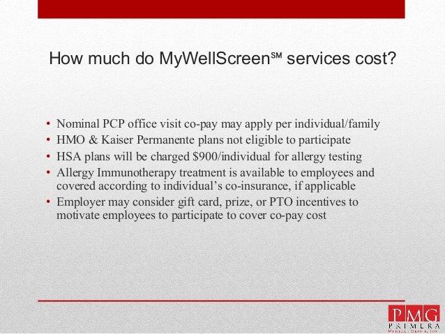 PMG MyWellScreen