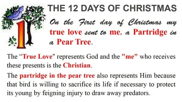 12 days of christmas - When Is The First Day Of Christmas