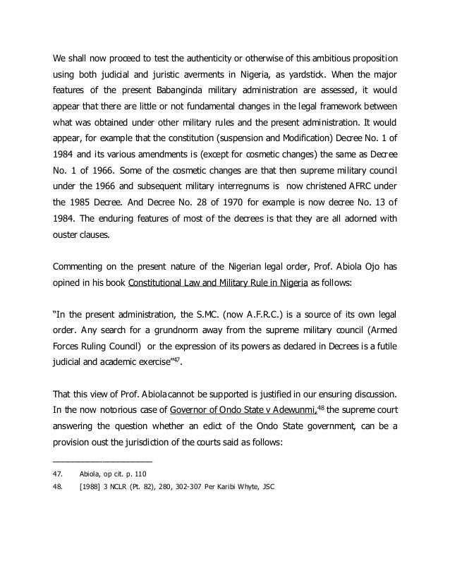 constitutional supremacy in malaysia essay In ah thian v government of malaysia (1976) the apex malaysian court had  already declared that the doctrine of parliamentary supremacy as.