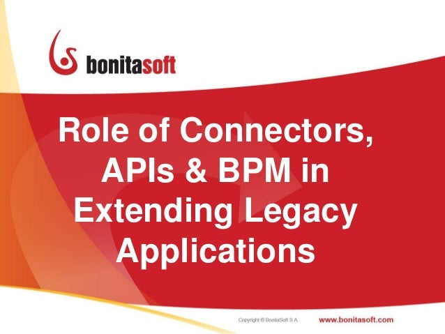 Role of Connectors,  APIs & BPM in Extending Legacy   Applications                      1