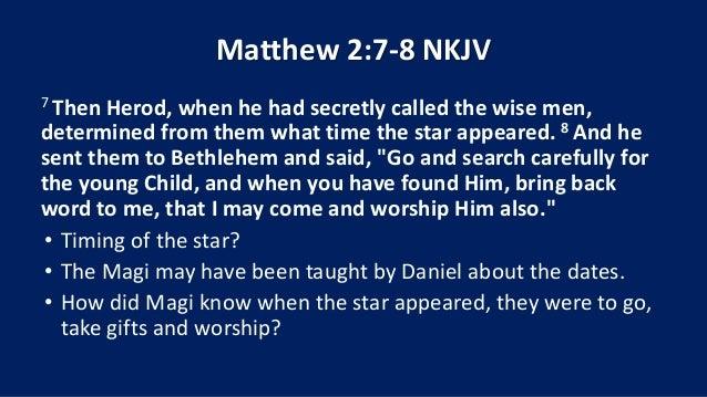 12 December 20, 2015, Matthew 2