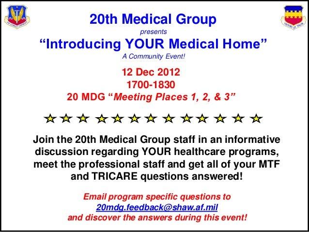 Tricare medical home model