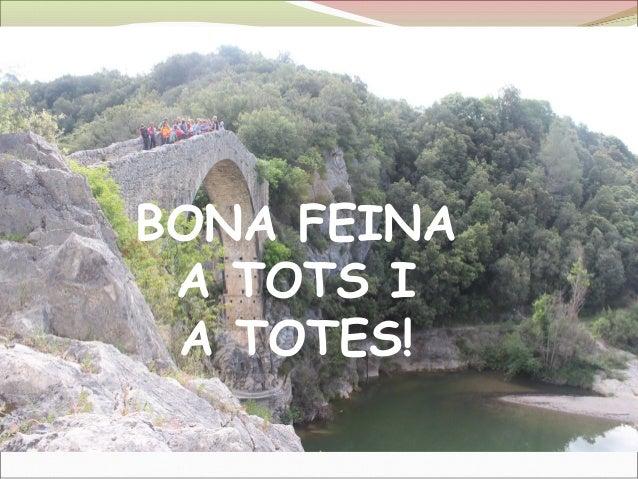 BONA FEINA A TOTS I A TOTES!