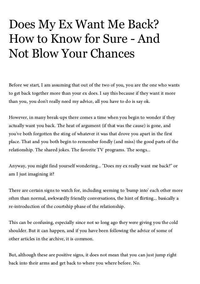 Does My Ex Want Me Back How To Know For Sure And Not Blow Your Chanc