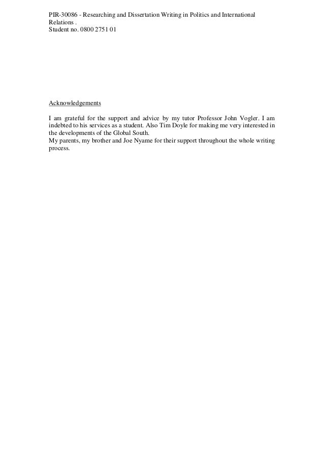 dissertation on world bank