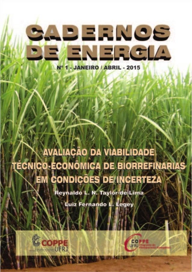 CADERNOS DE ENERGIA AAAAAVVVVVALIAÇÃO DALIAÇÃO DALIAÇÃO DALIAÇÃO DALIAÇÃO DA VIABILIDA VIABILIDA VIABILIDA VIABILIDA VIABI...