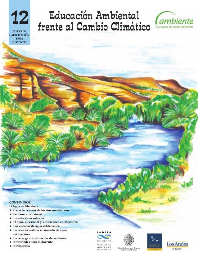12 I A D I Z A Dirección General de Escuelas Gobierno de Mendoza CONTENIDOS: El Agua en Mendoza Caracterización de los rí...