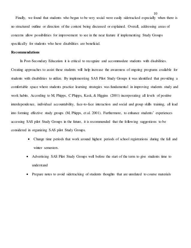 Study Group Proposal