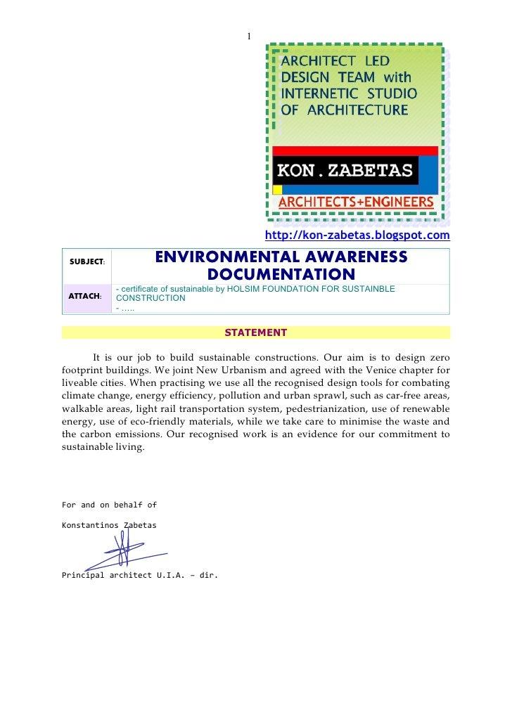 1                                                   http://kon-zabetas.blogspot.com   SUBJECT:           ENVIRONMENTAL AWA...