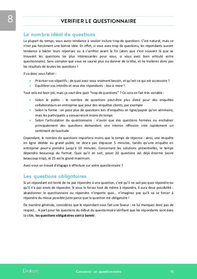 Exemple De Questionnaire Pour Une Entreprise - Le Meilleur ...