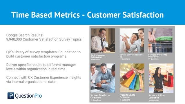 Time Based Metrics - Customer Satisfaction Google Search Results: 9,940,000 Customer Satisfaction Survey Topics QP's libra...