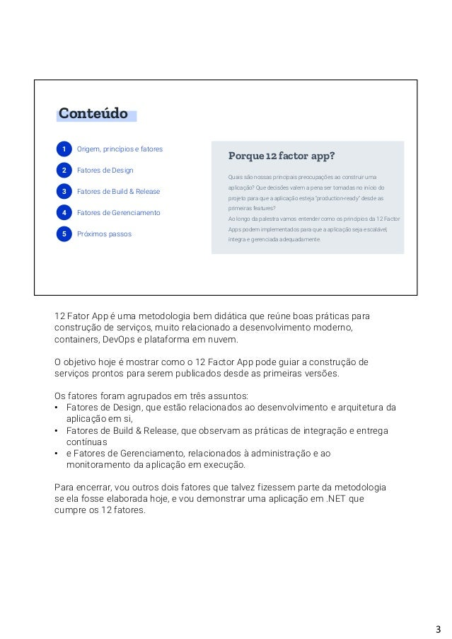 12 Factor App TDC São Paulo 2018 Slide 3