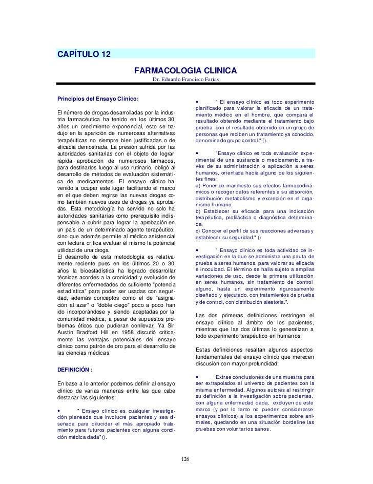 CAPÍTULO 12                                FARMACOLOGIA CLINICA                                        Dr. Eduardo Francis...