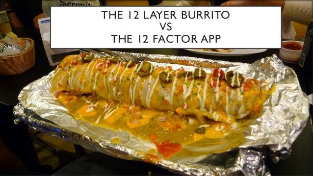 THE 12 LAYER BURRITO VS THE 12 FACTOR APP