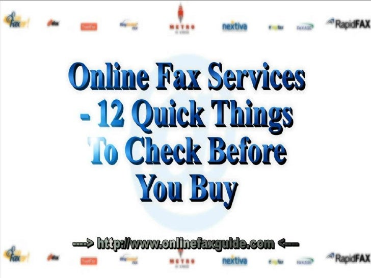 Online Fax - 12 Quick Things To Check Before You Buy