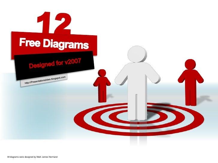 12<br />Free Diagrams<br />Designed for v2007<br />http://Presentationslides.blogspot.com<br />All diagrams were designed ...