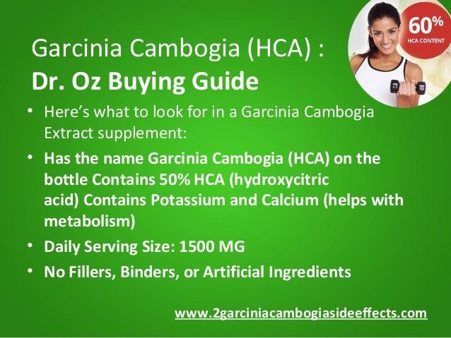 garcinia cambogia extract with potassium and calcium no fillers