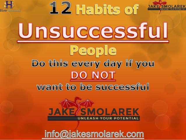 why people are not successful