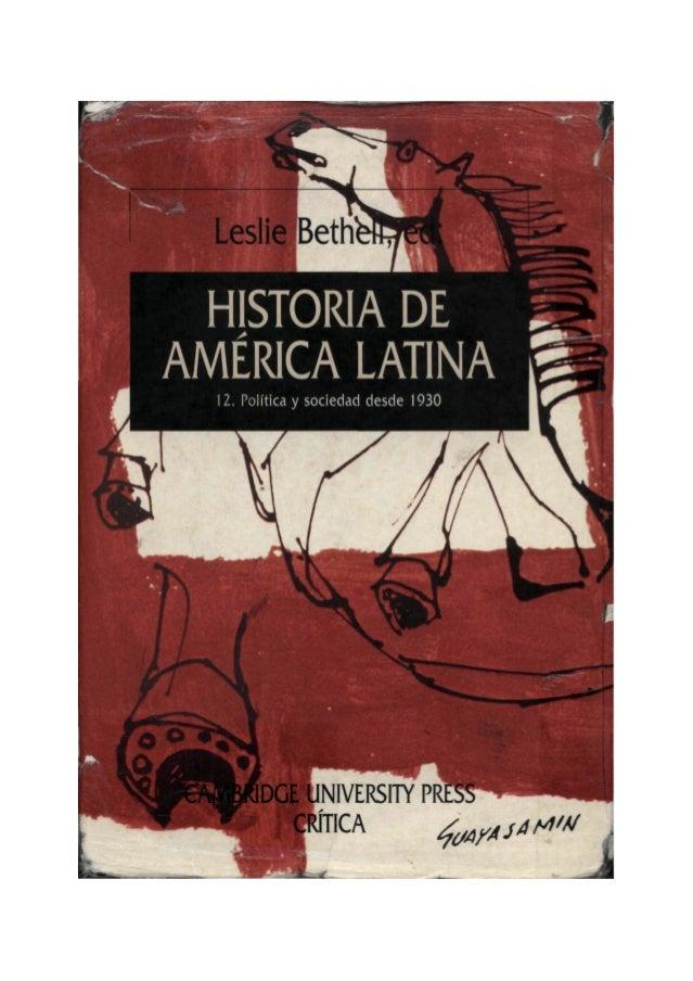 HISTORIA DE AMERICA LATINA  SERIE MAYOR Directores: JOSEP FONTANA y GONZALO PONTÓN