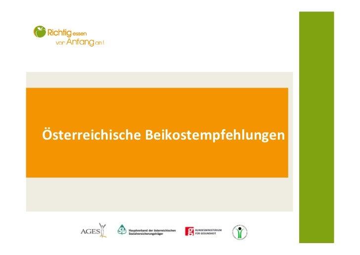 Österreichische Beikostempfehlungen