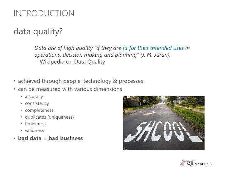 An introduction to Data Quality Services (DQS) Slide 3