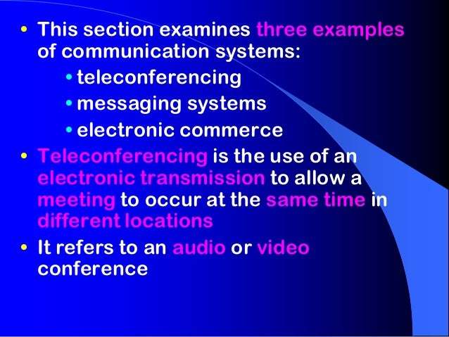 12 IPT0302   Examples of Communication Systems Slide 2