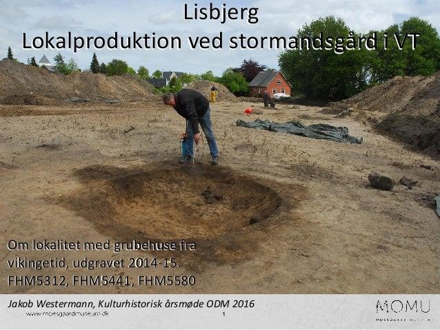 1 Om lokalitet med grubehuse fra vikingetid, udgravet 2014-15. FHM5312, FHM5441, FHM5580 Lisbjerg Lokalproduktion ved stor...