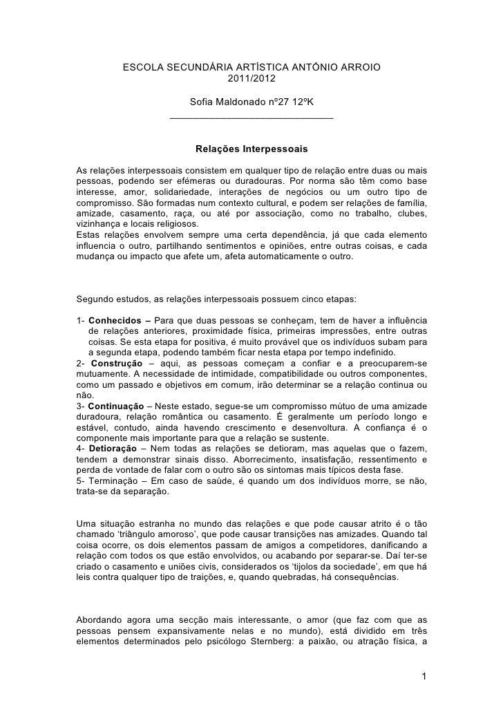 ESCOLA SECUNDÁRIA ARTÍSTICA ANTÓNIO ARROIO                           2011/2012                         Sofia Maldonado nº2...