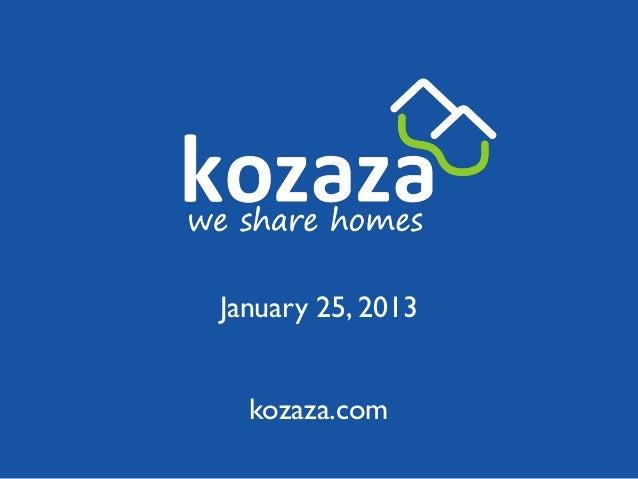 January 25, 2013  kozaza.com