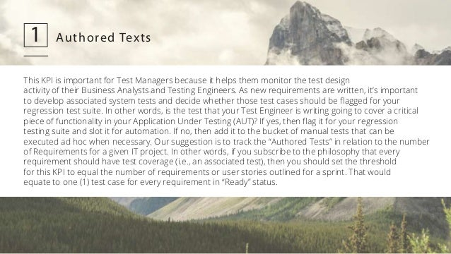 12 Key Performance Indicators for QA and Test Managers Slide 2