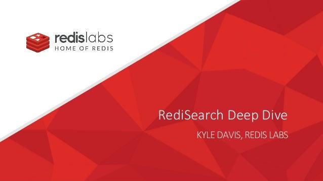 RediSearch Deep Dive KYLEDAVIS,REDISLABS
