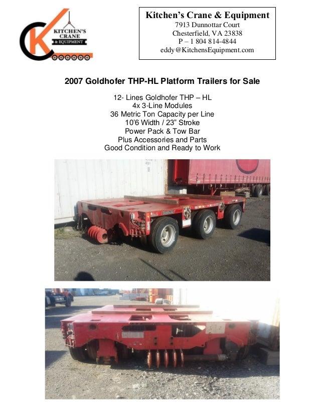 Goldhofer 12-lines THP-HL Platform Trailers for Sale!