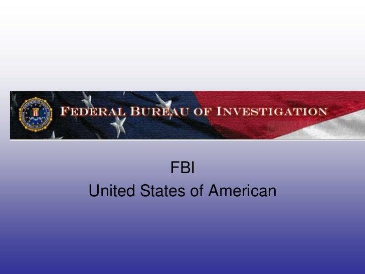 FBIUnited States of American