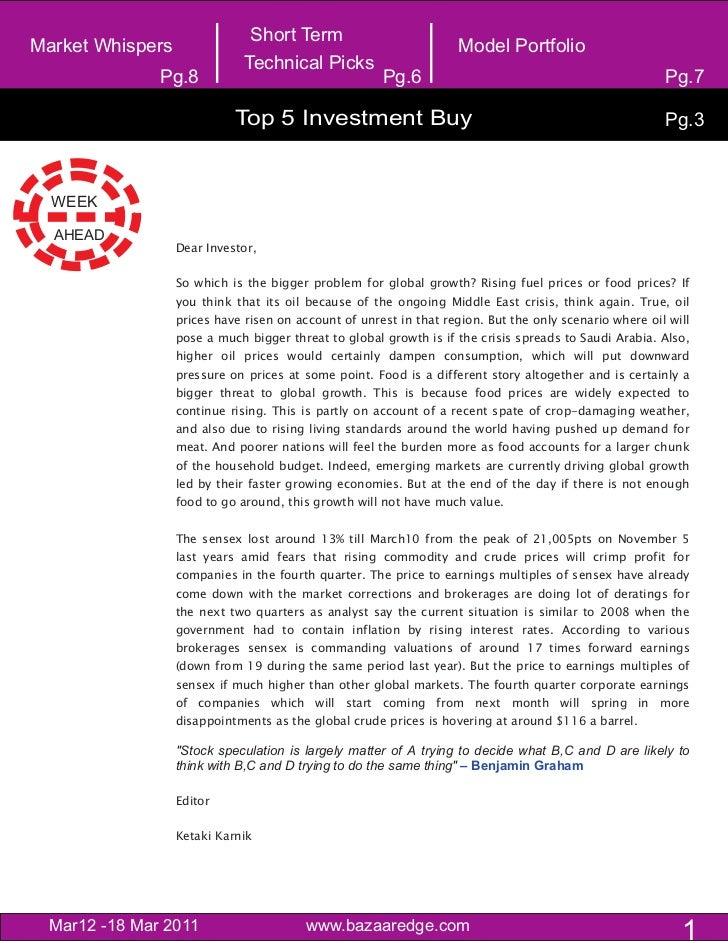 Short TermMarket Whispers                                                     Model Portfolio                             ...
