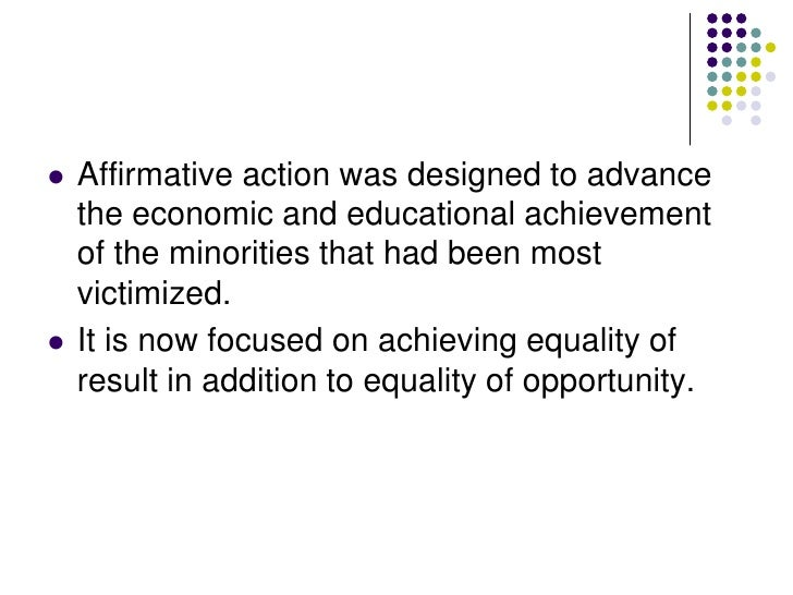 the harmful effects of quotas and affirmative action Discrimination and affirmative action david simon positive and negative effects of such discrimination in relation to the constitution as well as to become.