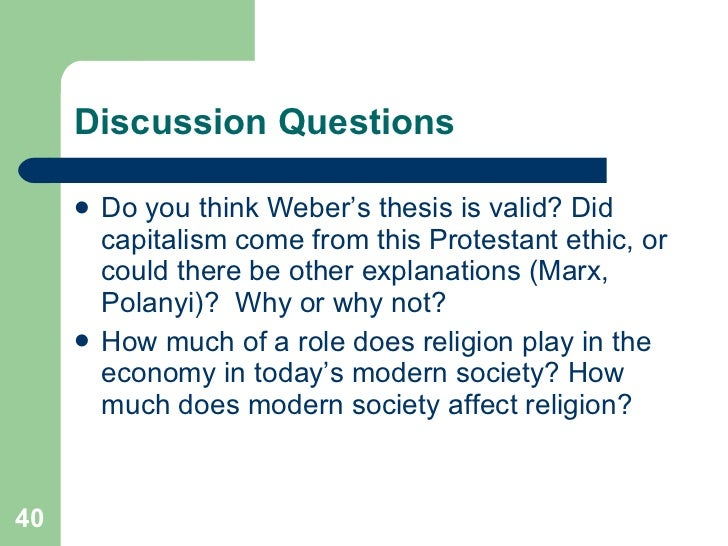 weberian thesis