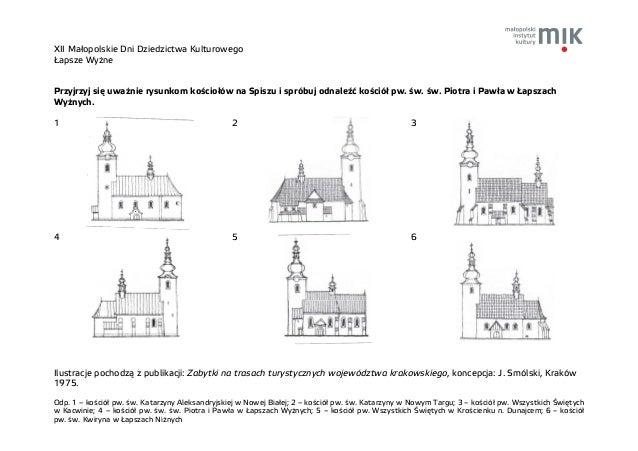 XII Małopolskie Dni Dziedzictwa Kulturowego Łapsze Wyżne Odp. 1 – kościół pw. św. Katarzyny Aleksandryjskiej w Nowej Białe...